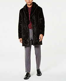 I.N.C. Men's Faux Fur Overcoat, Created for Macy's
