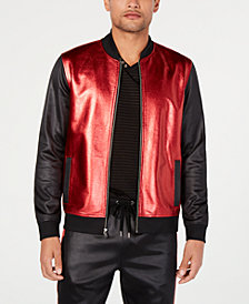 I.N.C. Men's Metallic Sparkle Bomber Jacket, Created for Macy's