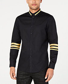I.N.C. Men's Regal Striped-Trim Shirt, Created for Macy's