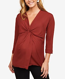 Motherhood Maternity Twist-Front Top