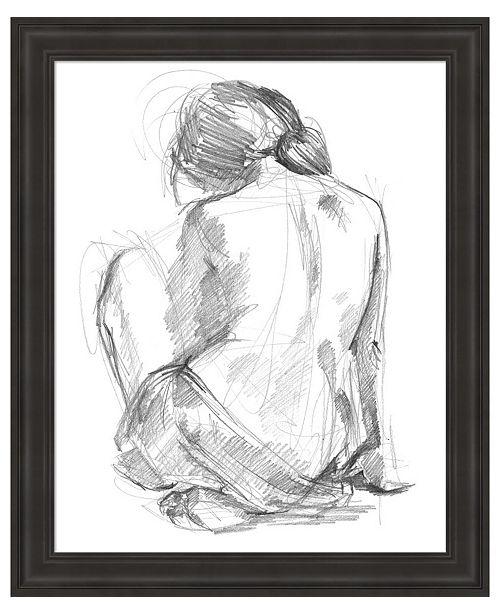 Metaverse Sitting Pose I by Jennifer Parker Framed Art