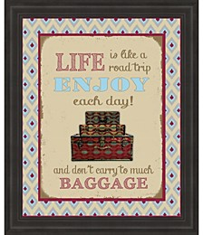 Life Bicycle Message 2 by Jean Plout Framed Art