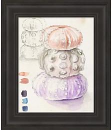 Sea Urchin Sketches I by Jennifer Parker Framed Art