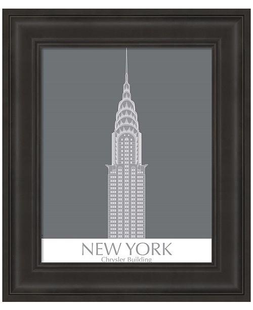 Metaverse New York Chrysler Building Monochrome by Fab Funky Framed Art
