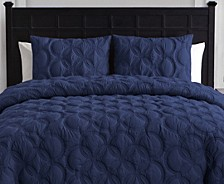 Atoll 3-Pc. Queen Embossed Duvet Cover Set