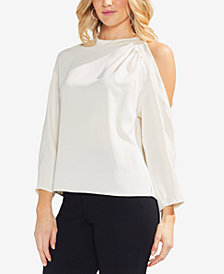 Vince Camuto Mock-Neck Cutout Top