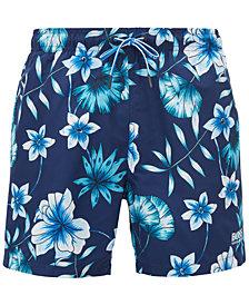 BOSS Men's Floral-Print Swim Shorts