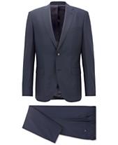 BOSS Men s Regular Classic-Fit Patterned Virgin Wool Suit 43bb5c029f047