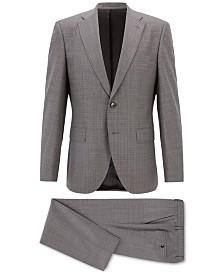 BOSS Men's Regular/Classic-Fit Patterned Virgin Wool Suit