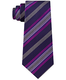 Kenneth Cole Reaction Men's Rail Stripe Slim Tie