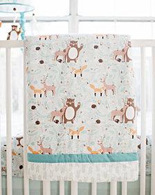 Forest Friends 3pc Crib Bedding Set