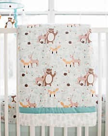 Forest Friends 3pc Crib Bedding Set