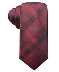 Men's Warwick Gingham Slim Silk Tie, Created for Macy's