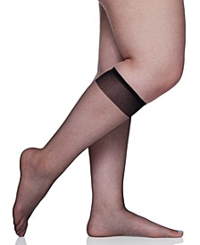 Women's  Plus Size Ultra Sheer Knee Highs Hosiery 6460