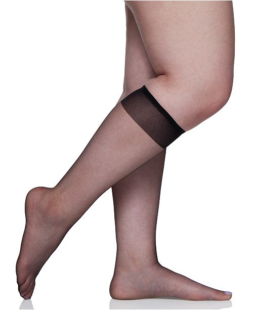 b5178276a Berkshire Women s Plus Size Ultra Sheer Knee Highs Hosiery 6460 ...