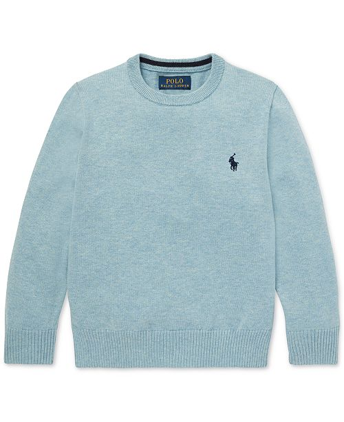 Polo Ralph Lauren Little Boys Cotton Crew-Neck Sweater