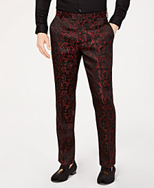 I.N.C. Men's Paisley Jacquard Pants, Created for Macy's