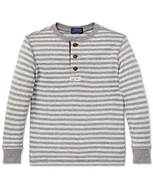 Polo Ralph Lauren Little Boys Striped Cotton Mesh Henley