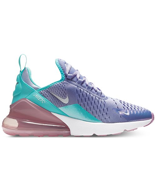 low priced 126a0 1d99a ... Nike Girls Air Max 270 Unicorn Casual Sneakers from Finish ...