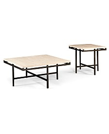 East Park 2-Piece Set: Coffee Table and End Table