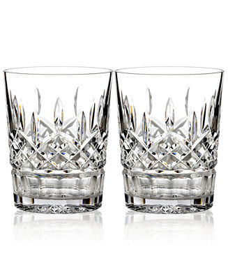 Waterford Barware Lismore Double Old Fashioned Glasses