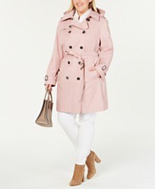 5ff2343865a4f MICHAEL Michael Kors Plus Size Double-Breasted Trench Coat