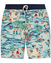 8da4836364 Polo Ralph Lauren Big Boys Sanibel Luau Swim Trunks