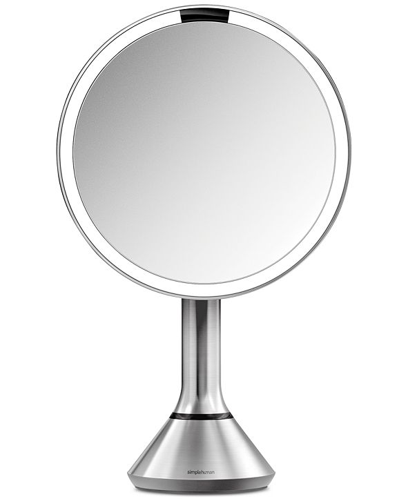 """simplehuman 8"""" Lighted Sensor Makeup Mirror with Touch-Control Brightness"""