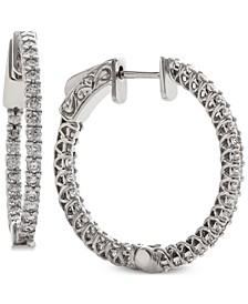 Diamond In & Out Hoop Earrings (1 ct. t.w.)