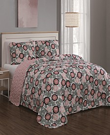 Marka 3pc King Quilt Set