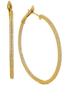 Diamond Double Row In & Out Hoop Earrings (1-1/2 ct. t.w.)