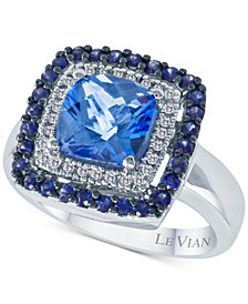 Le Vian® Multi-Gemstone (2-5/8 ct. t.w.) & Diamond (1/10 ct. t.w.) Statement Ring in 14k White Gold