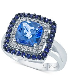 Le Vian® Multi-Gemstone (2-5/8 ct. t.w.) & Diamond (1/10 ct. t.w.) Statement Ring in 14k White Gold