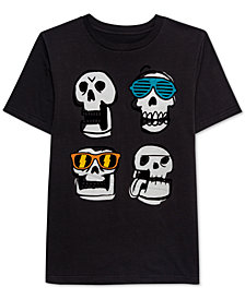 Jem Big Boys Flippin' Out Skulls Graphic T-Shirt