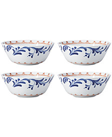 Dansk Northern Indigo All-Purpose Bowls, Set of 4
