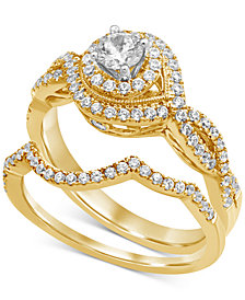 Diamond Braided Bridal Set (3/4 ct. t.w.) in 14k Gold