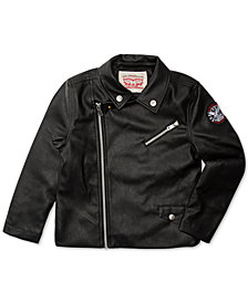 Levi's® Big Girls Faux Leather Moto Jacket