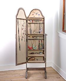 Bell-Shape Rustic Jewelry Storage Mirror