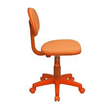 Orange Fabric Swivel Task Chair