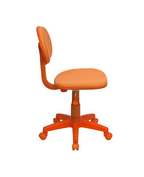 Flash Furniture Orange Fabric Swivel Task Chair