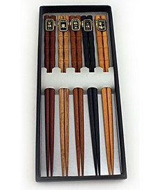 Wooden Chopsticks, Set of 5
