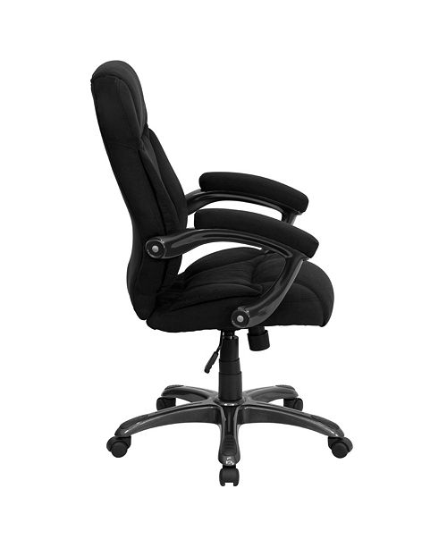Magnificent High Back Black Microfiber Contemporary Executive Swivel Chair With Arms Pdpeps Interior Chair Design Pdpepsorg