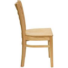 Hercules Series Ladder Back Natural Wood Restaurant Chair