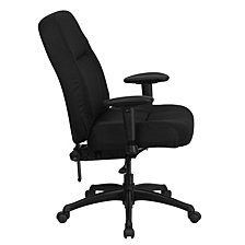 Hercules Series 400 Lb. Rated High Back Big & Tall Black Fabric Executive Swivel Chair With Adjustable Arms