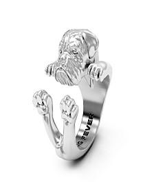 Dogue de Bordeaux Hug Ring in Sterling Silver