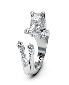 Shiba Hug Ring in Sterling Silver