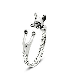 French Bulldog Hug Bracelet in Sterling Silver