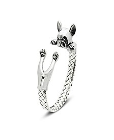 French Bulldog Hug Bracelet in Sterling Silver