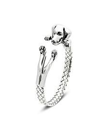 Weimaraner Hug Bracelet in Sterling Silver
