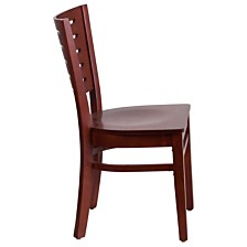 Darby Series Slat Back Mahogany Wood Restaurant Chair